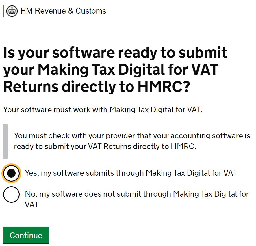MTD VAT filing