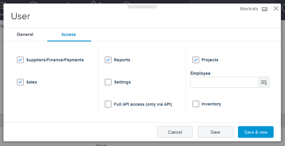 bookkeeper access