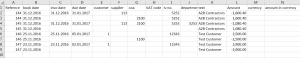 import excel file in reviso