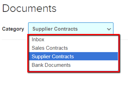 Find documents in your folders