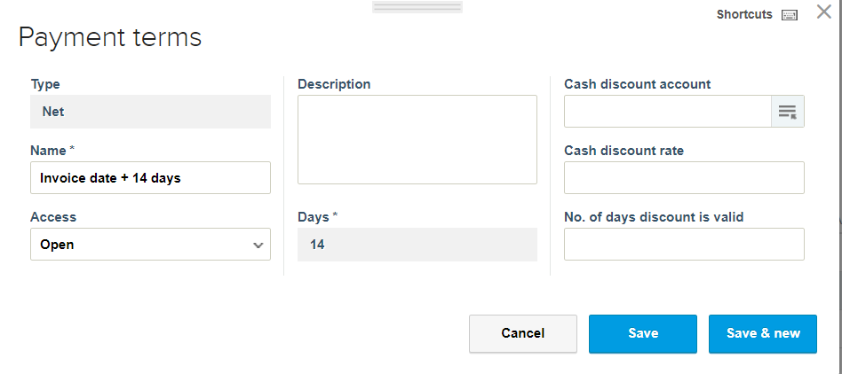 new payment terms in reviso