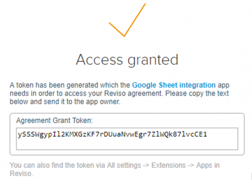 access granted to google sheets