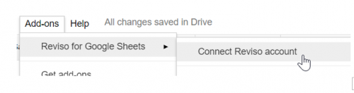 connect reviso account to google sheets