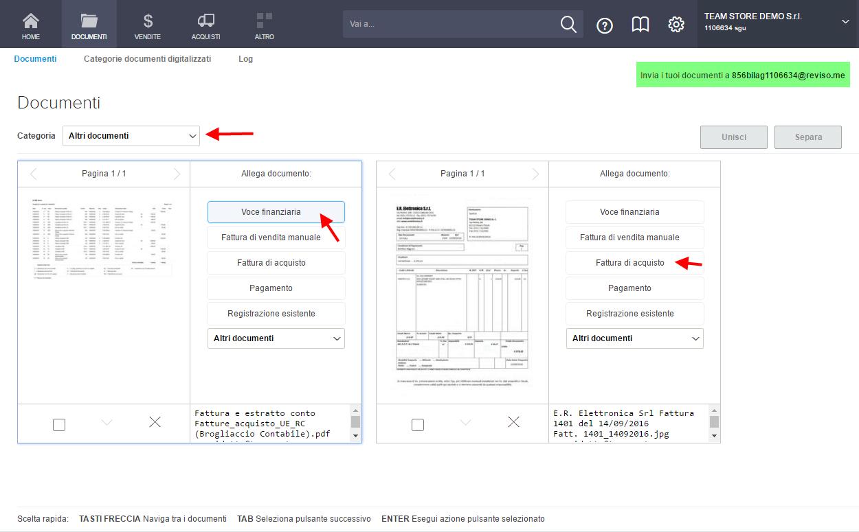 Documenti - Contabilità in Cloud